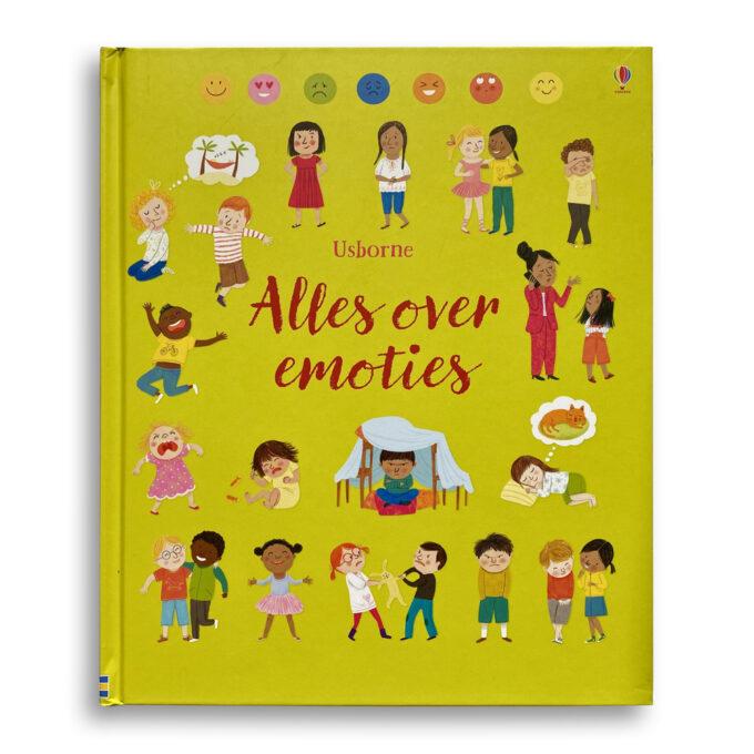 Cover kinderboek Alles over emoties. EmotieBoeken.