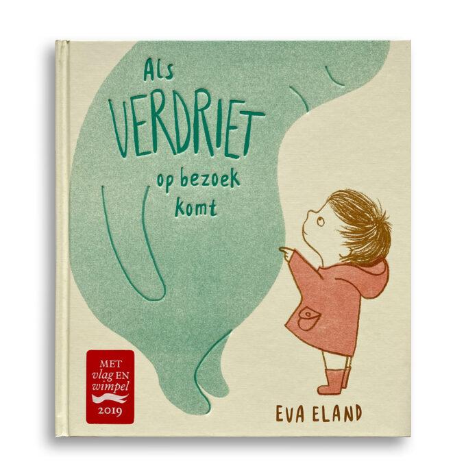 Cover kinderboek Als verdriet op bezoek komt. EmotieBoeken.