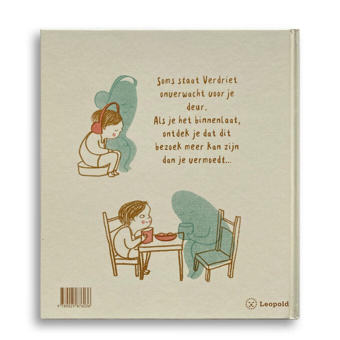 Korte beschrijving kinderboek Als verdriet op bezoek komt. EmotieBoeken.