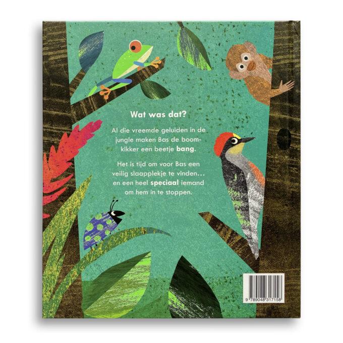 Korte beschrijving kinderboek Bas de bange boomkikker. EmotieBoeken.
