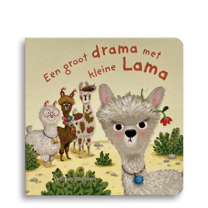 Cover kinderboek Een groot drama met kleine lama. EmotieBoeken.