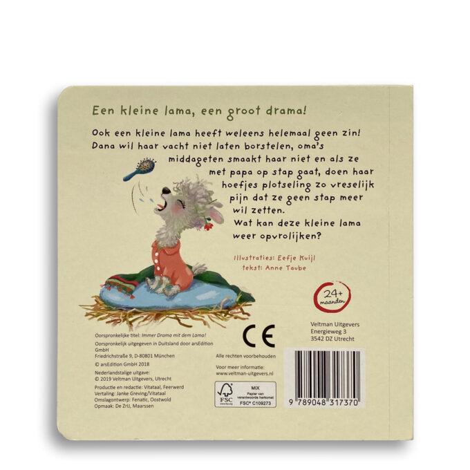 Korte beschrijving kinderboek Een groot drama met kleine lama. EmotieBoeken.