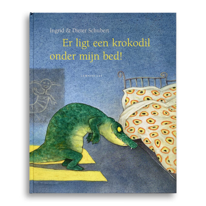 Cover kinderboek Er ligt een krokodil onder mijn bed. EmotieBoeken.