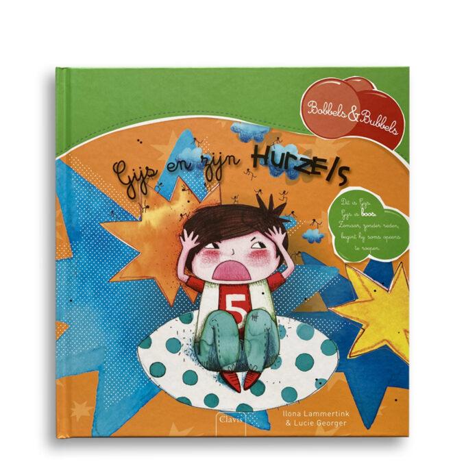 Cover kinderboek Gijs en zijn hurzels. EmotieBoeken.