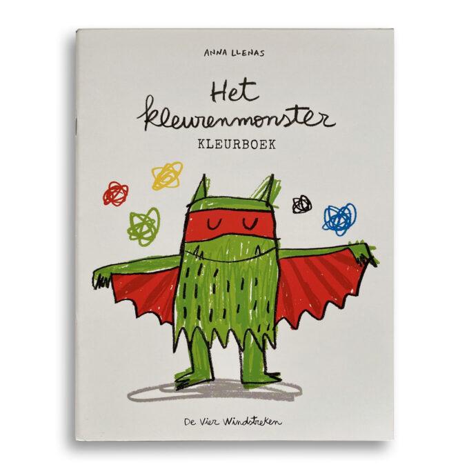 Cover kinderboek Het kleurenmonster. Het kleurboek. EmotieBoeken.