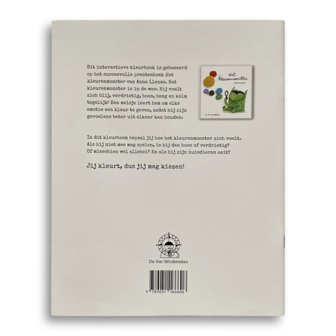 Korte beschrijving kinderboek Het kleurenmonster. Het kleurboek. EmotieBoeken.