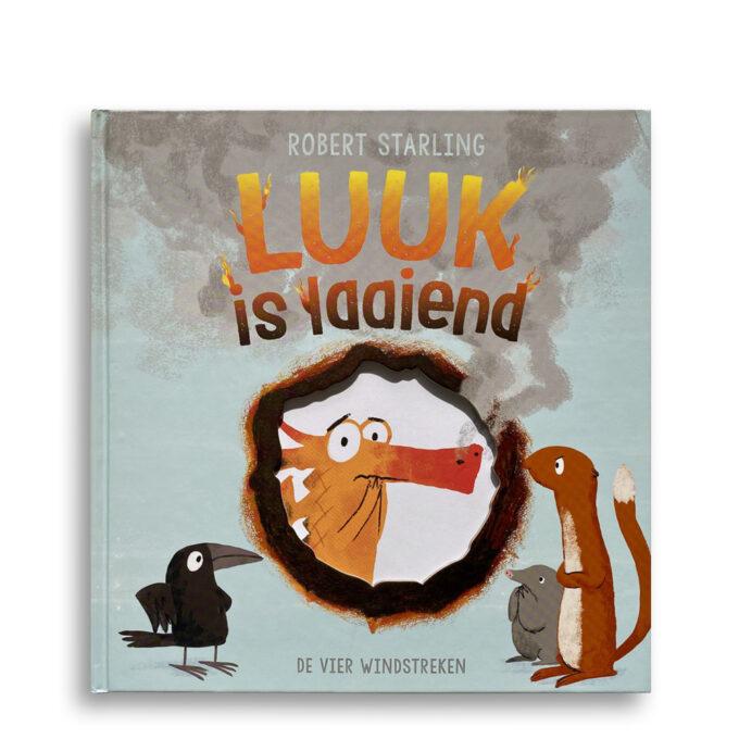 Cover kinderboek Luuk is laaiend. EmotieBoeken.