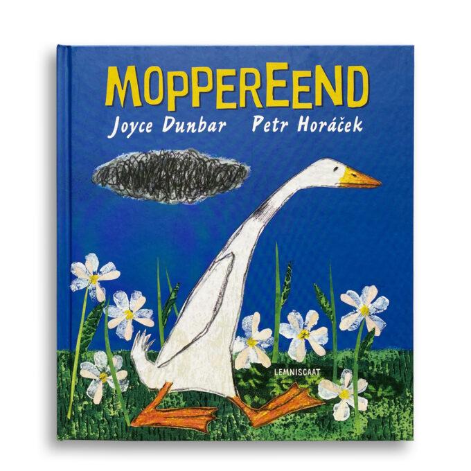 Cover kinderboek Moppereend. EmotieBoeken.