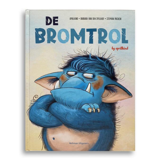 Cover kinderboek De Bromtrol. EmotieBoeken.