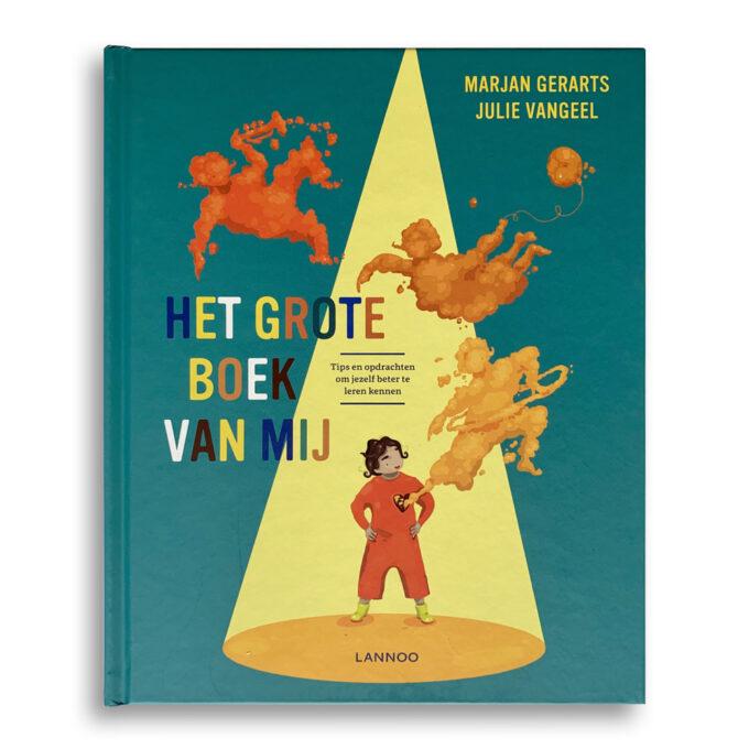 Cover kinderboek Het grote boek van mij. EmotieBoeken.
