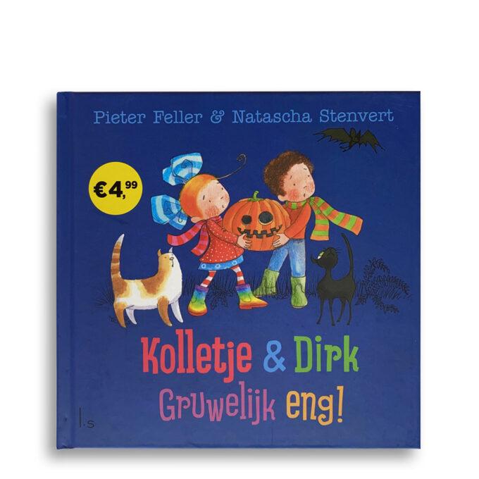 Cover kinderboek Kolletje en Dirk. Gruwelijk eng! EmotieBoeken.