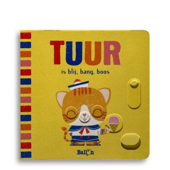 Cover kinderboek Tuur is blij, bang, boos. EmotieBoeken.
