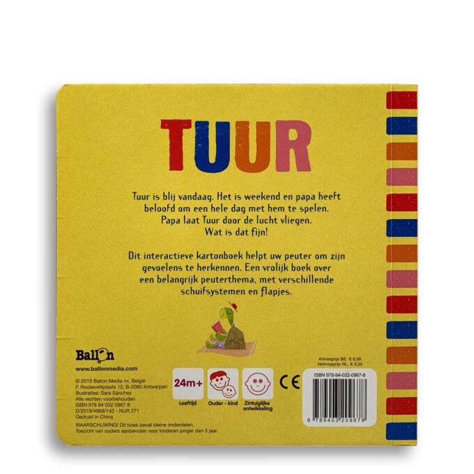 Korte beschrijving kinderboek Tuur is blij, bang, boos. EmotieBoeken.