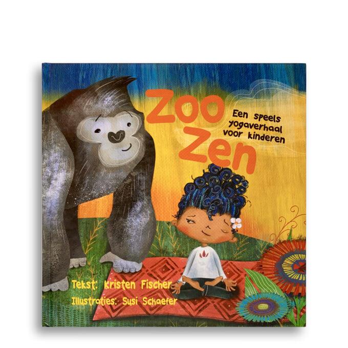 Cover kinderboek ZooZen. Een speels yogaverhaal voor kinderen. EmotieBoeken.