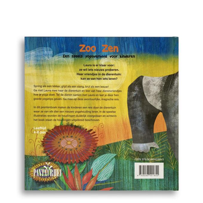 Korte beschrijving kinderboek ZooZen. Een speels yogaverhaal voor kinderen. EmotieBoeken.