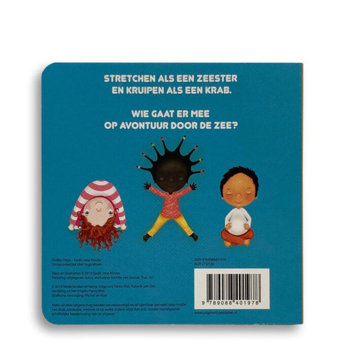 Korte beschrijving kinderboek Dolfijn Yoga. EmotieBoeken.