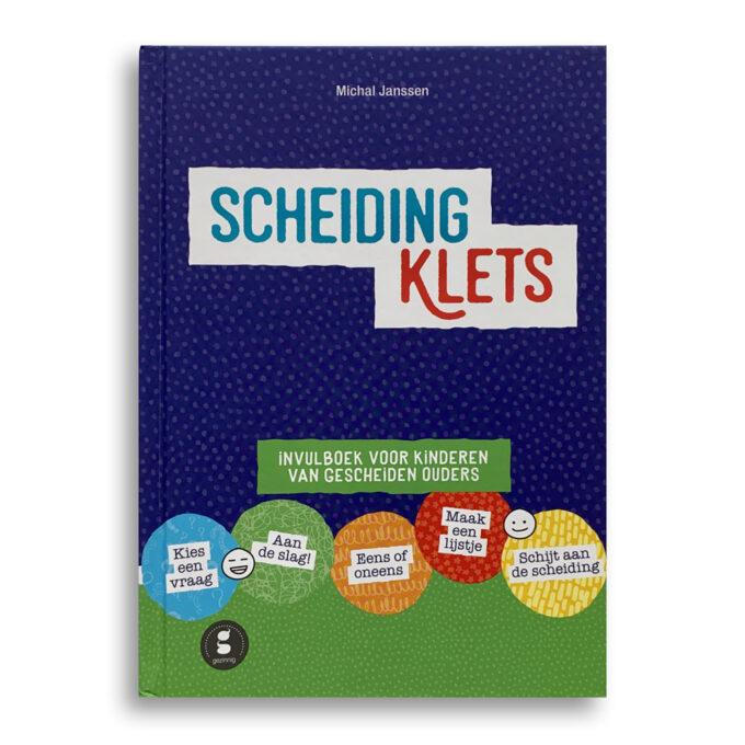 Cover kinderboek Scheidingklets. EmotieBoeken.