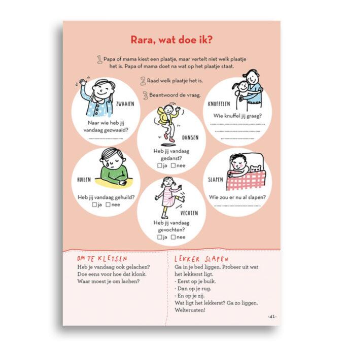 Inkijk pagina kinderboek Slaapklets Voor kleuters. EmotieBoeken.