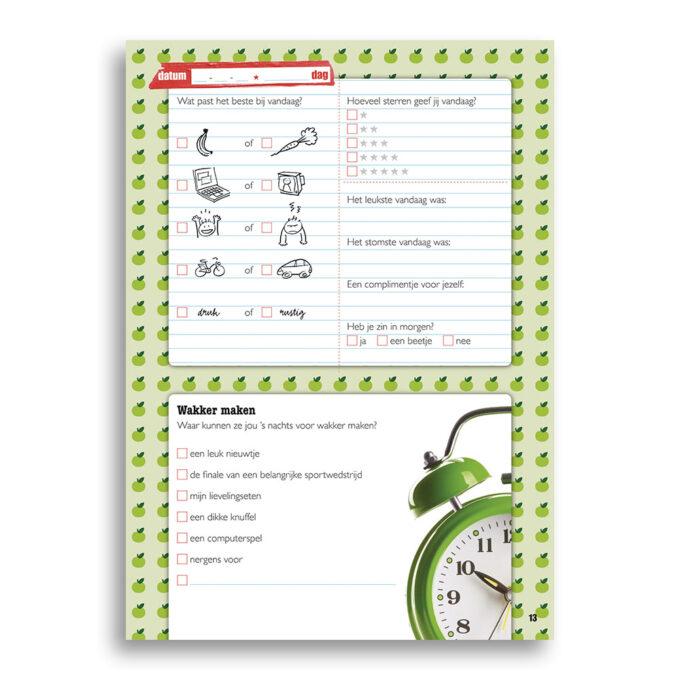 Inkijk pagina kinderboek Slaapklets. EmotieBoeken.