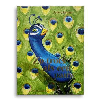 Cover kinderboek Zo trots als een pauw. EmotieBoeken.