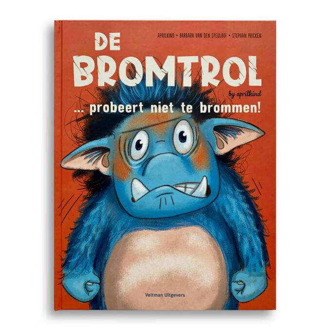 Cover kinderboek De Bromtrol... probeert niet te brommen Emotieboeken