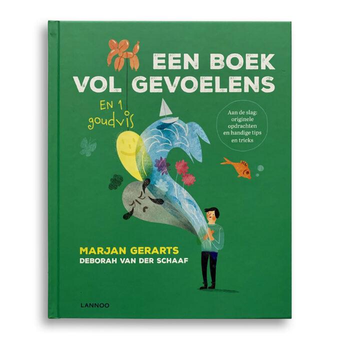 Cover kinderboek Een boek vol gevoelens en 1 goudvis. Emotieboeken