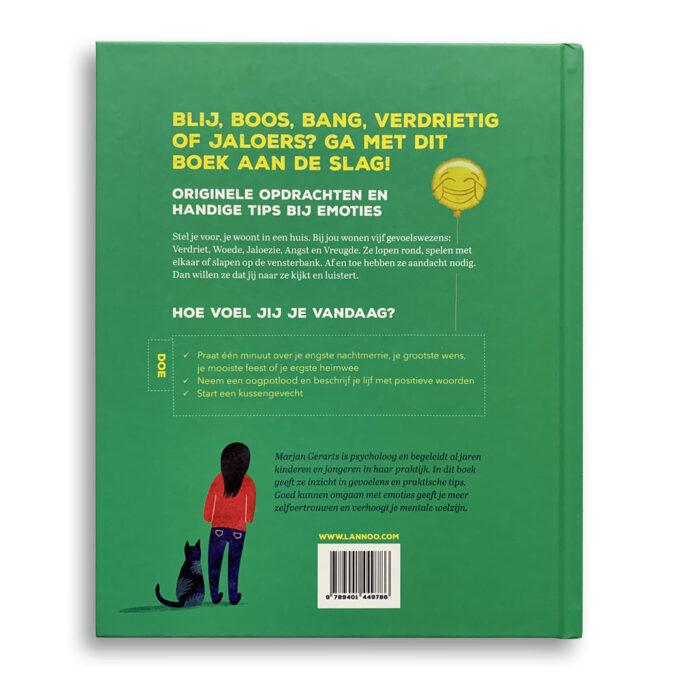 Korte beschrijving kinderboek Een boek vol gevoelens en 1 goudvis. Emotieboeken