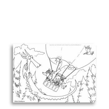 Voorbeeld Kleurplaat - Luuk is laaiend (productfoto) Speciaal gemaakt voor Emotieboeken