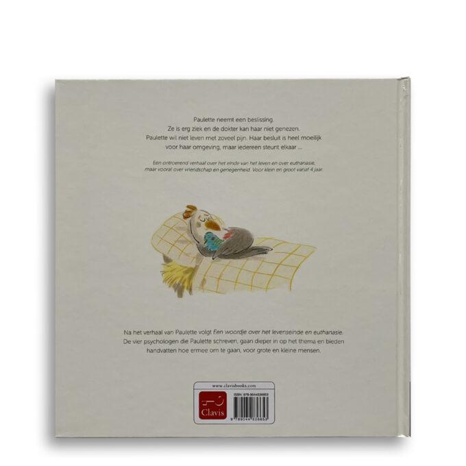 Korte beschrijving. kinderboek Paulette. Een verhaal over euthanasie voor jong en oud. Emotieboeken
