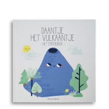 Cover kinderboek Daantje het Vulkaantje. Het EmotieBoek. EmotieBoeken.