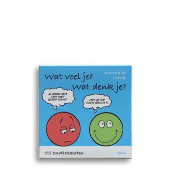 Cover Kaartenset Wat voel je? Wat denk je? 55 emotiekaarten Emotieboeken