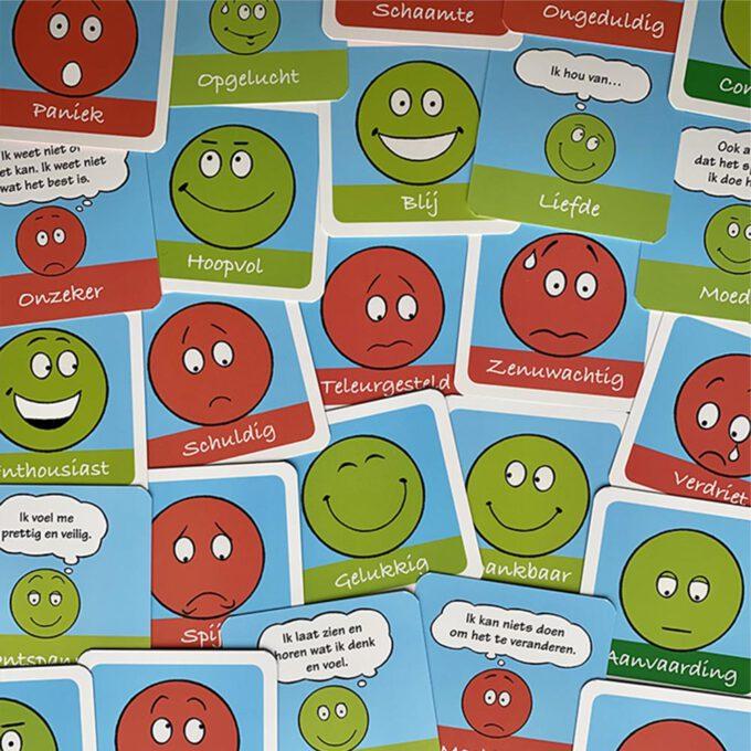 Voorbeeldkaarten Kaartenset Wat voel je? Wat denk je? 55 emotiekaarten Emotieboeken